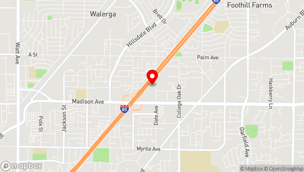 Google Map of 5321 Date Ave., Sacramento, CA 95841