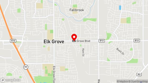 Google Map of 9072 Elk Grove Blvd, Elk Grove, CA 95624