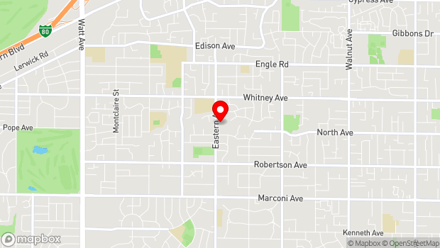 Google Map of 3300 Eastern Ave, Sacramento, CA 95821