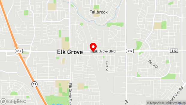 Google Map of 9615 Railroad St, Elk Grove, CA 95624
