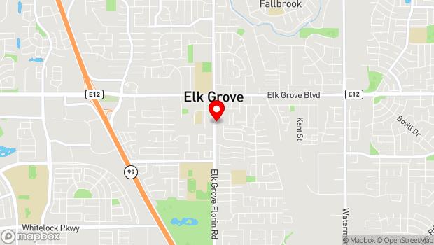Google Map of 9685 Elk Grove Florin Rd, Elk Grove, CA 95624