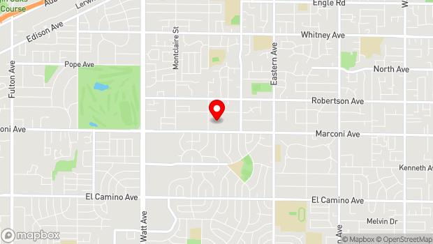 Google Map of 3927 Marconi Ave, Sacramento, CA 95821