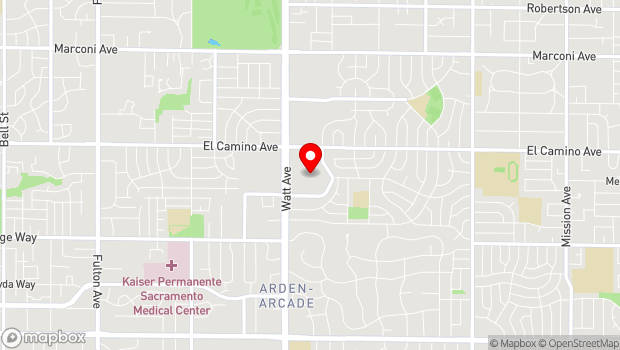 Google Map of 2310 Watt Avenue, Sacramento, CA 95825