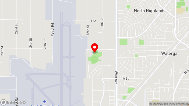 Google Map of 3200 Freedom Park Drive, North Highlands, CA 95660