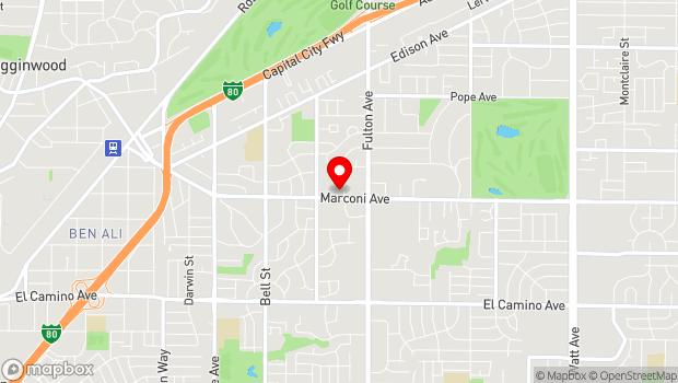 Google Map of 2443 Marconi Avenue, Sacramento, CA 95821