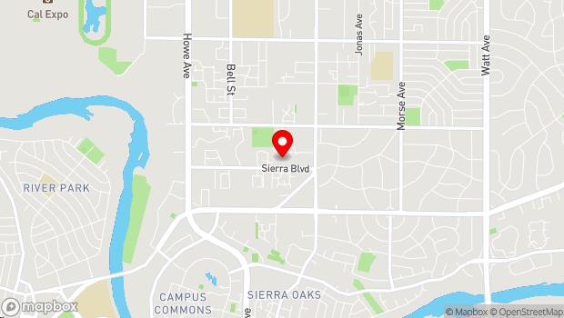 Google Map of 2425 Sierra Blvd, Sacramento, CA 95825