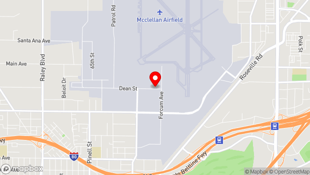 Google Map of 2409 Dean St, McClellan Park, CA 95652