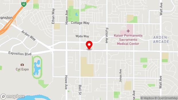 Google Map of 2357 Arden Way, Sacramento, CA 95825