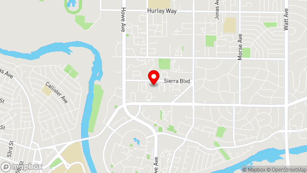 Google Map of 2300 Sierra Blvd., Sacramento, CA 95825