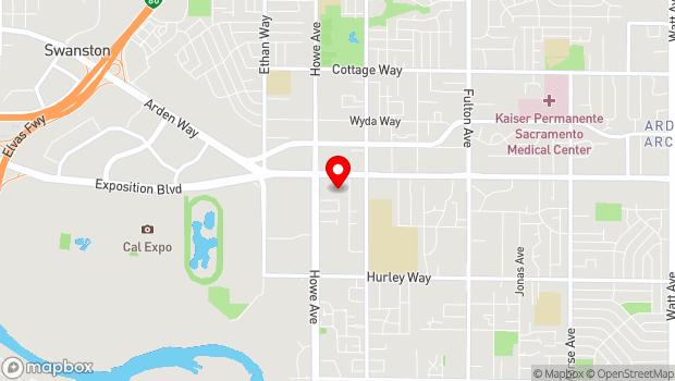Google Map of 2230 Arden Way, Sacramento, CA 95825