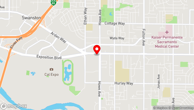 Google Map of 2100 Arden Way, Sacramento, CA 95825