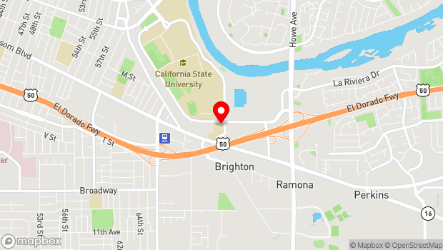 Google Map of 3000 State University Drive, Sacramento, CA 95819