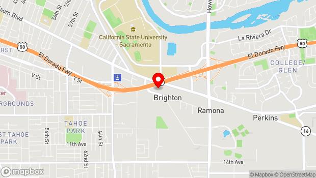 Google Map of 7300 Folsom Blvd, Sacramento, CA 95826