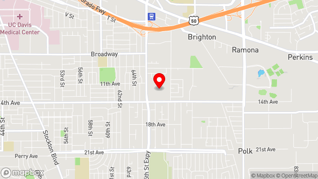 Google Map of 6879 14th Ave., Sacramento, CA 95820