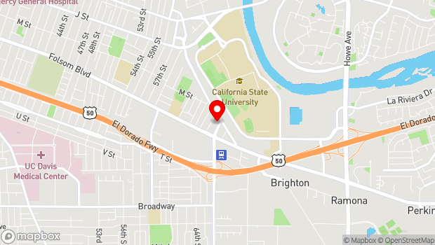 Google Map of 1100 65th Street, Sacramento, CA 95819