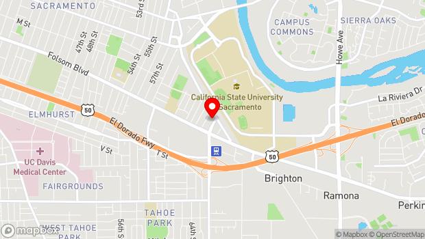 Google Map of 1100 65th Street, Sacramento, CA 95819