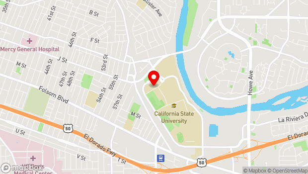Google Map of 6000 J Street, Sacramento, CA 95819