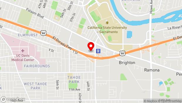 Google Map of 6301 S St., Sacramento, CA 95817