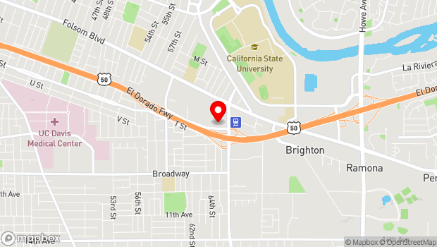 Google Map of 6301 S St., Sacramento, CA 95817