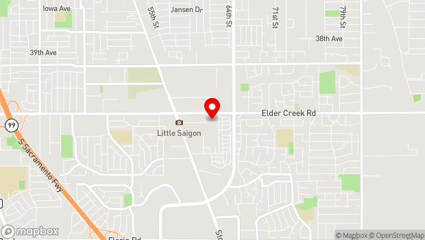 Google Map of 6270 Elder Creek Rd, Sacramento, CA 95824