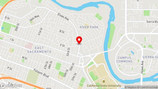 Google Map of 5524 B Elvas Ave., Sacramento, CA 95819