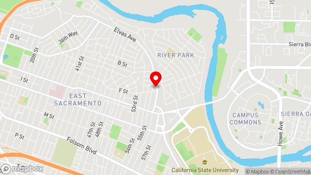 Google Map of 5520 Elvas Ave., Sacramento, CA 95819