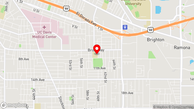 Google Map of 3110 60th St., Sacramento, CA 95820