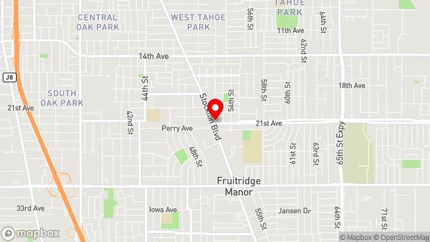 Google Map of 4799 Stockton Blvd., Sacramento, CA 95820