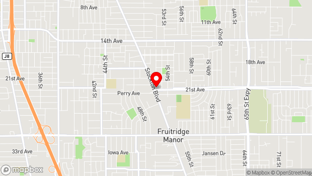 Google Map of 4799 Stockton Blvd., Sacramento, CA 95820