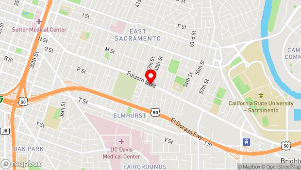 Google Map of 4818 Folsom Blvd., Sacramento, CA 95819