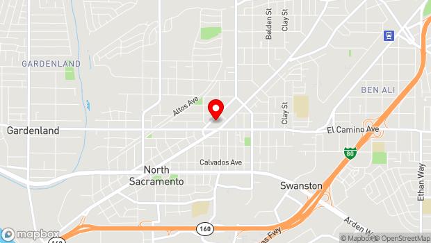 Google Map of 2419 Del Paso Blvd., Sacramento, CA 95815