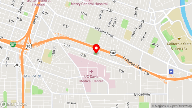Google Map of 4623 T Street , Sacramento, CA 95819