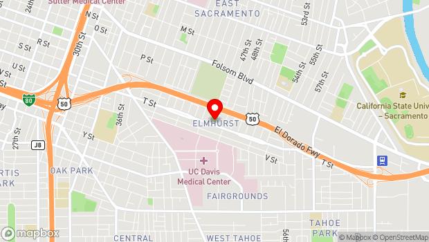 Google Map of 4623 T Street , Sacramento, CA 95819