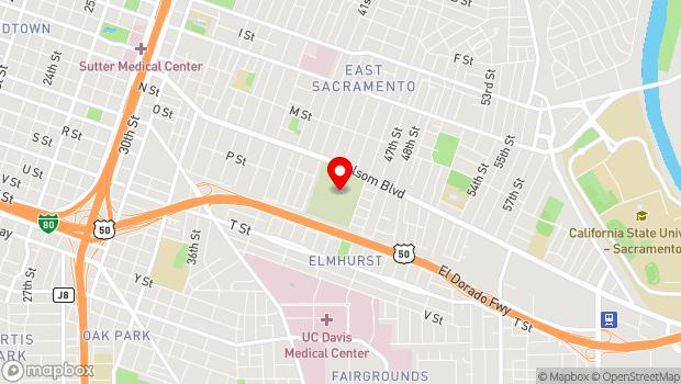 Google Map of 4300 Folsom Blvd., Sacramento, CA 95819
