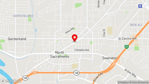 Google Map of 2109 Del Paso Blvd., Sacramento, CA 95815