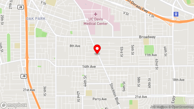 Google Map of 3522 Stockton Blvd, Sacramento, CA 95820