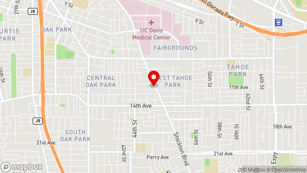 Google Map of 3522 Stockton Blvd., Sacramento, CA 95820