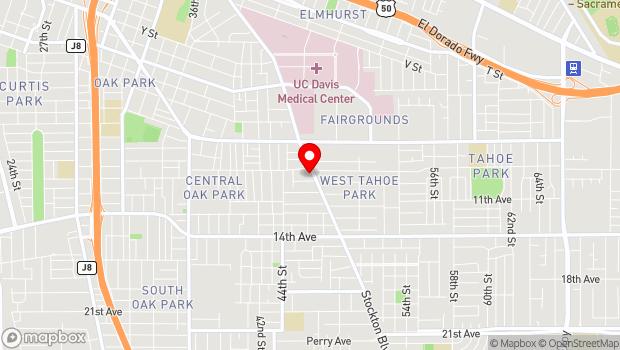 Google Map of 3300 Stockton Blvd., Sacramento, CA 95820