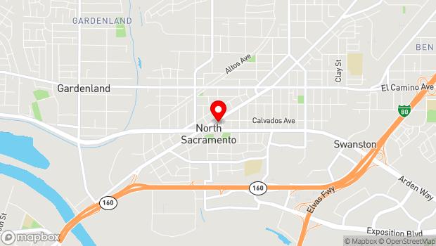 Google Map of 1616 Del Paso Blvd, Sacramento, CA 95815
