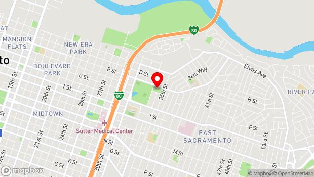 Google Map of 3330 McKinley Blvd., Sacramento, CA 95814