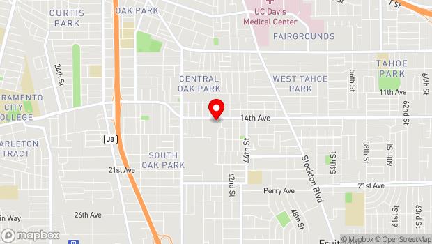 Google Map of 4036 14th Avenue, Sacramento, CA 95820