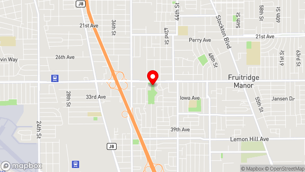 Google Map of 4000 Fruitridge Rd, Sacramento, CA 95820