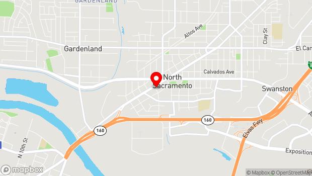Google Map of 1400 Del Paso Blvd., Sacramento, CA 95815