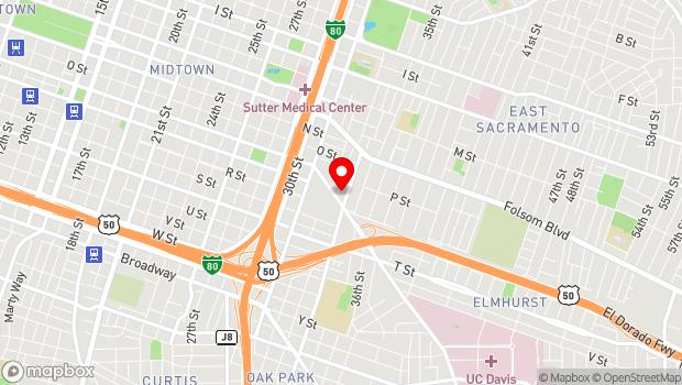 Google Map of 1725 33rd St., Sacramento, CA 95816