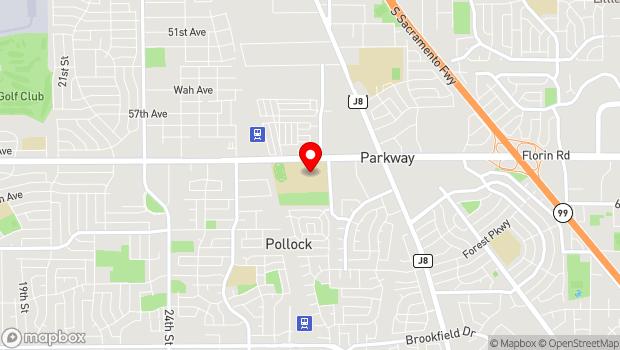 Google Map of 3500 Florin Road, Sacramento, CA 95823