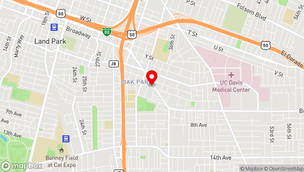 Google Map of 3514 Broadway, Sacramento, CA 95819