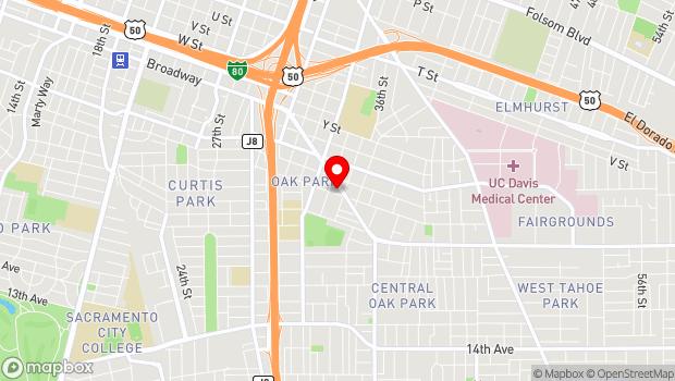Google Map of 3514 Broadway, Sacramento, CA 95819