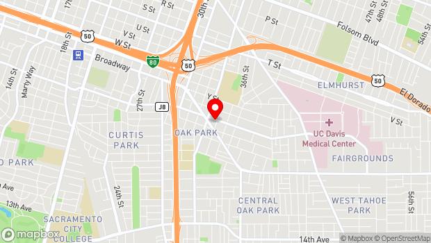 Google Map of 3460 2nd Avenue, Sacramento, CA 95817