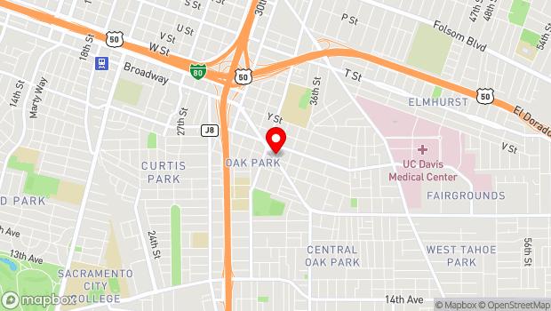 Google Map of 3433 Broadway , Sacramento, CA 95817