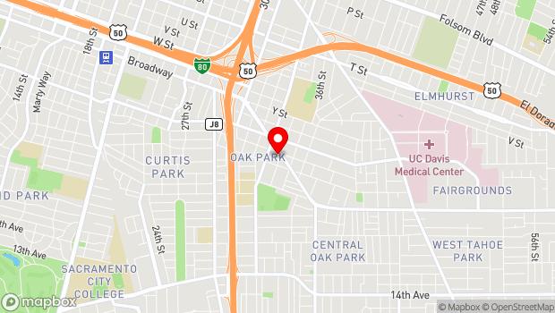 Google Map of 2814 35th Street, Sacramento, CA 95817